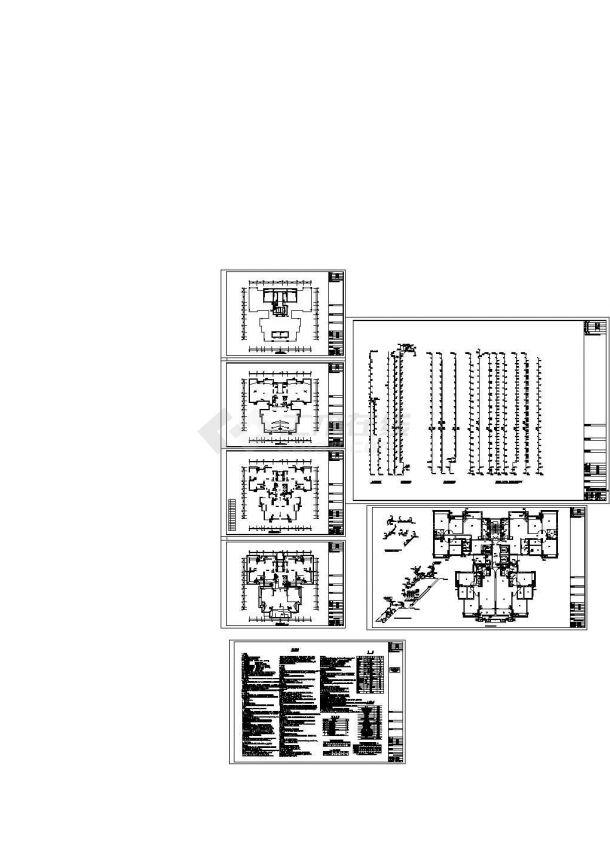 四川住宅小区给排水系统设计施工cad图纸,共九张-图一