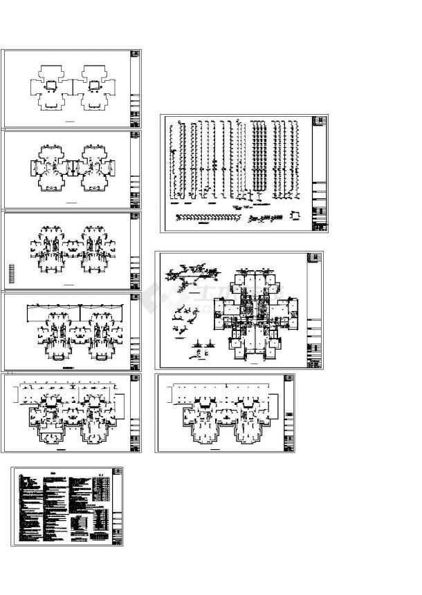 四川住宅小区给排水系统设计施工cad图纸,共九张-图二
