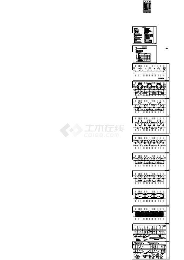 江苏6层普通住宅给排水系统设计施工cad图纸,共十三张-图二