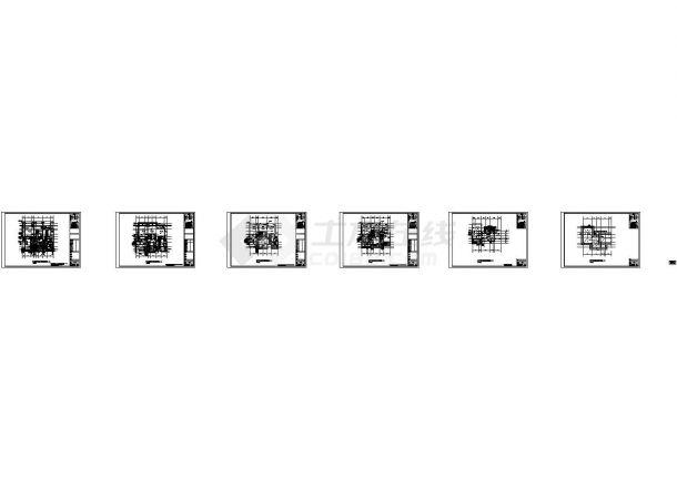 广东高档住宅小区给排水系统设计施工cad图纸,共二十四张-图一