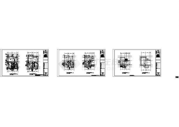 广东高档住宅小区给排水系统设计施工cad图纸,共二十四张-图二