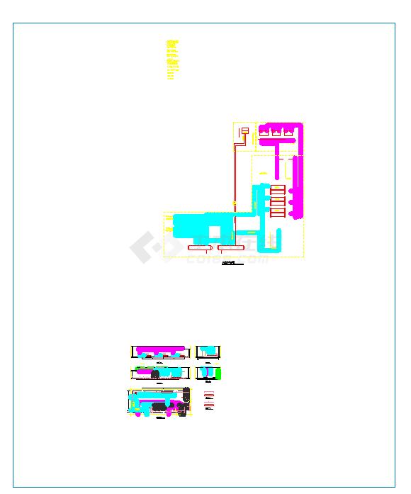冷冻机房、锅炉房大样图(医院+大商业+办公等5个项目)-图一