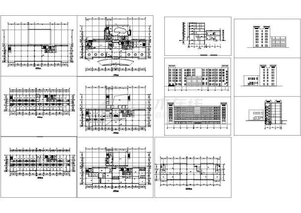 5层公寓式宾馆建筑设计CAD方案图(含地下室设计)-图一