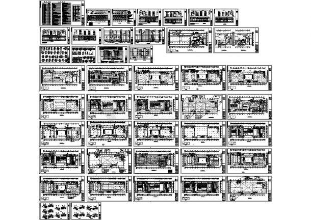 【浙江】某综合楼全套电气施工设计cad图(含低压配电系统图)-图一