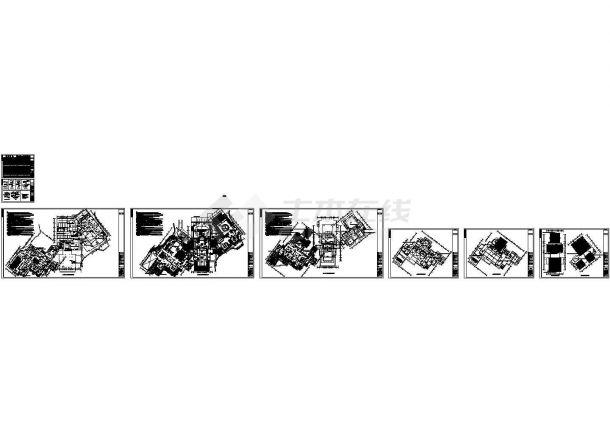 广东某高尔夫俱乐部全套电气施工cad图(含莲花山高低压配电系统图)-图一