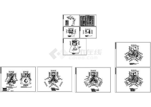 某高层办公楼舒适性空调系统设计施工图(风冷热泵)(含设计说明)-图一