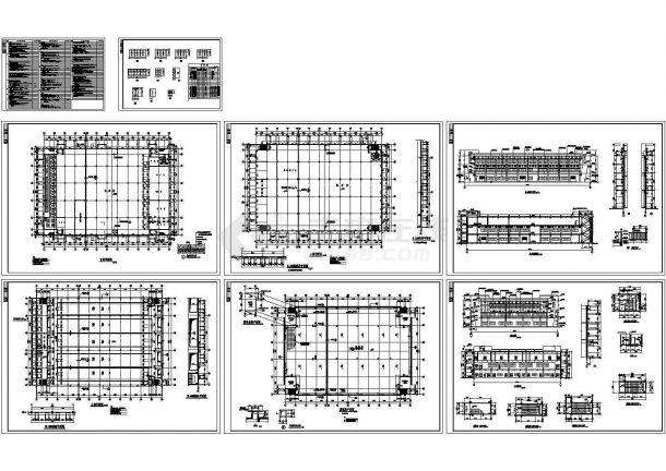 茂扬厂房建筑施工全套图(CAD,8张图纸)-图一
