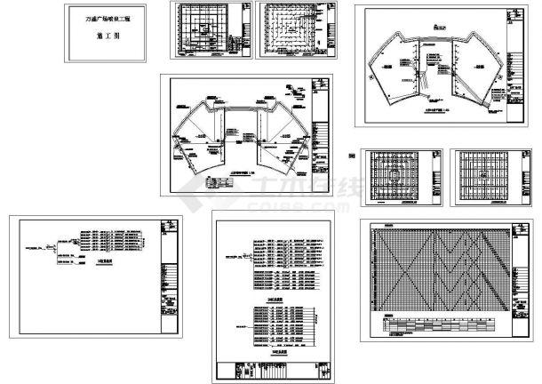 万盛广场水景CAD规划建筑施工图-图一
