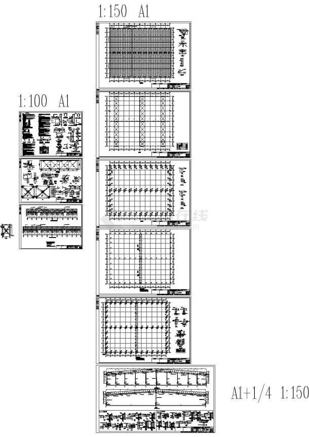 湖南恒安纸业钢结构工程CAD图纸,含结构设计说明-图一