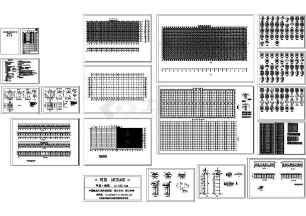 某工厂网架设计施工图-图一