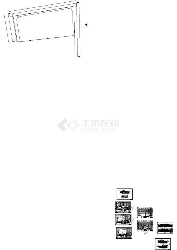 某四层长途汽车客运站带地下室设计cad全套建筑施工图(甲级院设计)-图一