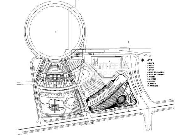 某四层19720㎡长途汽车客运站带地下室设计cad全套建筑施工图(含word版设计说明,含效果图)-图一