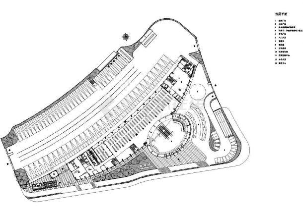 某四层19720㎡长途汽车客运站带地下室设计cad全套建筑施工图(含word版设计说明,含效果图)-图二
