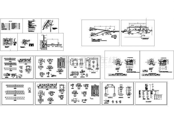 某浮动取水泵站全套cad施工图(流量800m3/h,设计扬程70m,含设计说明)-图一