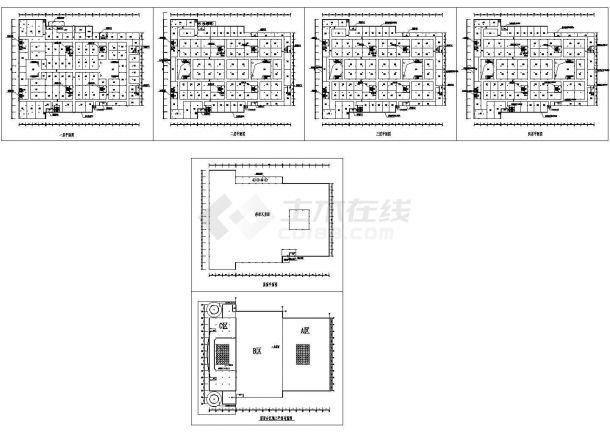 天津某家具广场改造加层工程结构施工图纸-图一