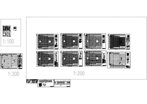 天津某家具广场改造加层工程结构施工图纸-图二