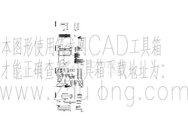 两个路边钢结构广告牌结构详细cad设计图-图一