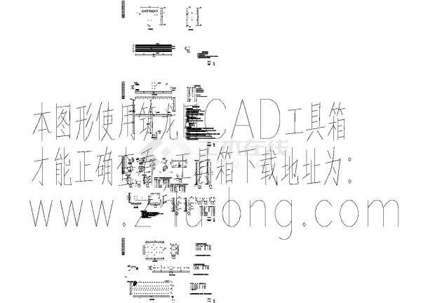 两个路边钢结构广告牌结构详细cad设计图-图二