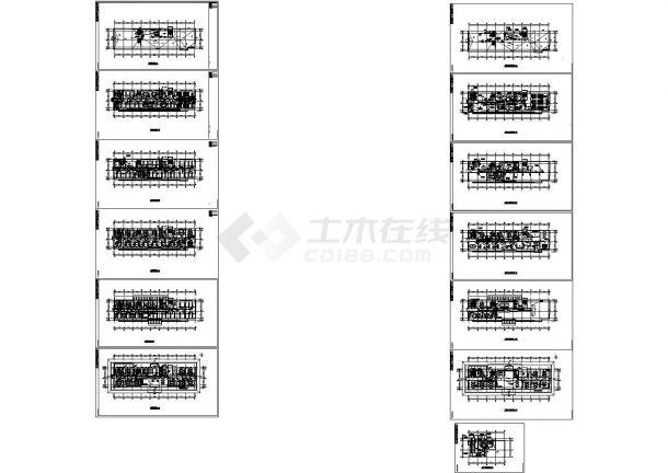 [河北]办公科研综合楼空调通风及防排烟系统暖通设计cad施工图-图一