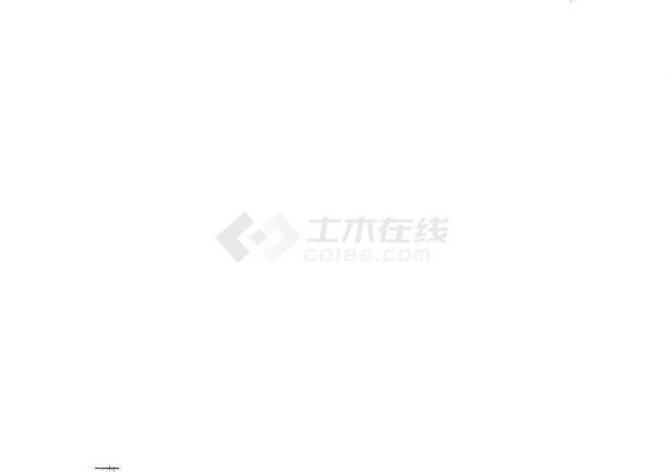 武汉长江流域某河道整治工程CAD施工图-图一