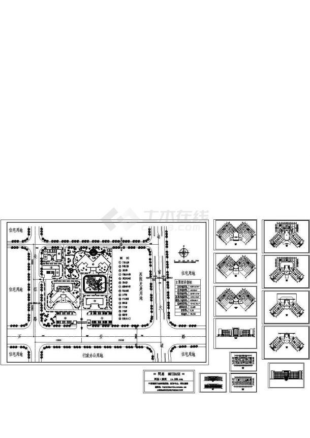 某医院总体及建筑设计方案Cad设计图-图一