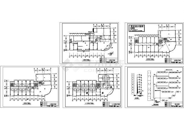 办公室弱电设计图(CAD,6张图纸)-图一