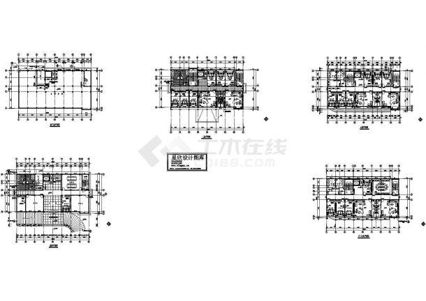 办公室电气全套设计图(CAD,5张图纸)-图一