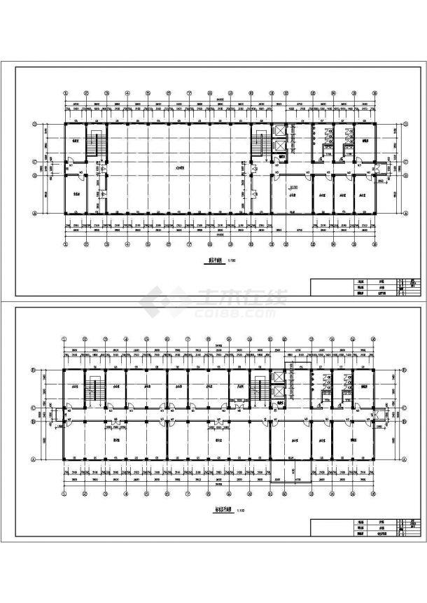 某七层办公楼建筑结构CAD设计图纸(毕业设计)-图二