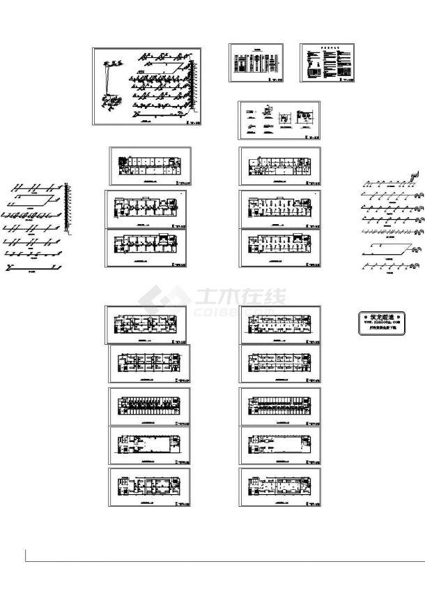 福州市某培训中心空调系统毕业设计图纸-图一
