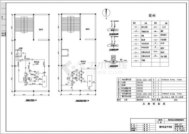 郑州某综合大厦中央空调系统毕业设计图纸-图二