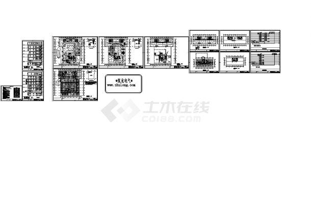 社区综合楼电气消防自动报警施工图纸-图二