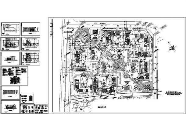 一套会所建筑图Cad设计图-图一