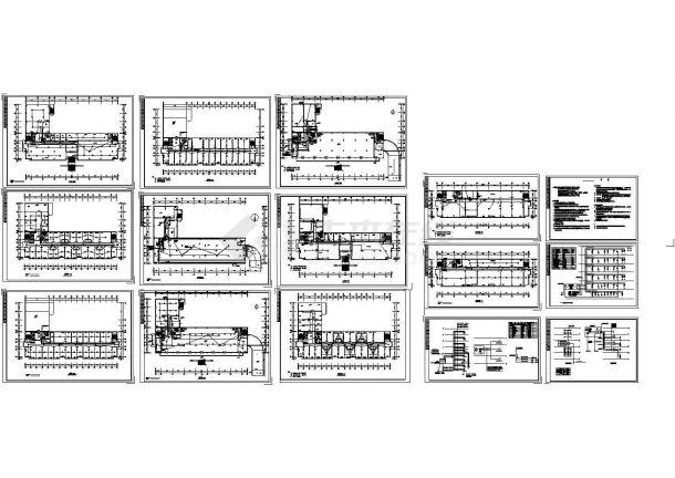 五层办公楼电气平面Cad设计图-图二