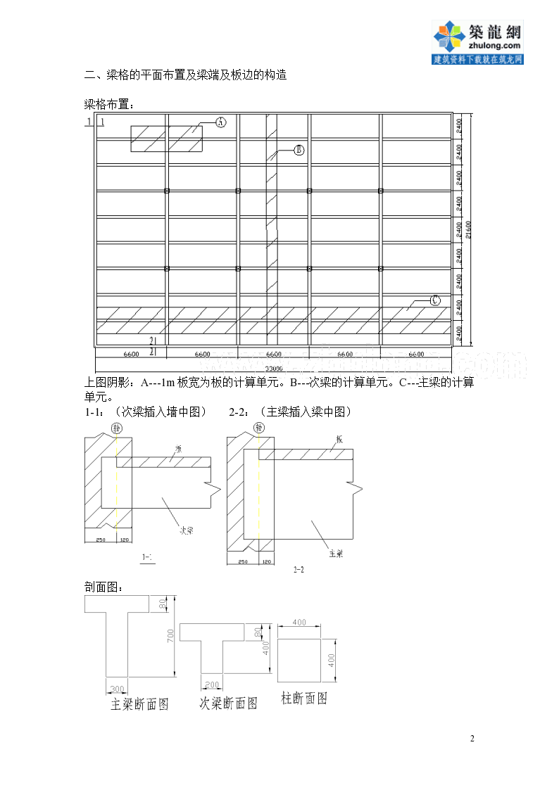 [学士] 钢筋砼单向板肋形结构计算书-图二