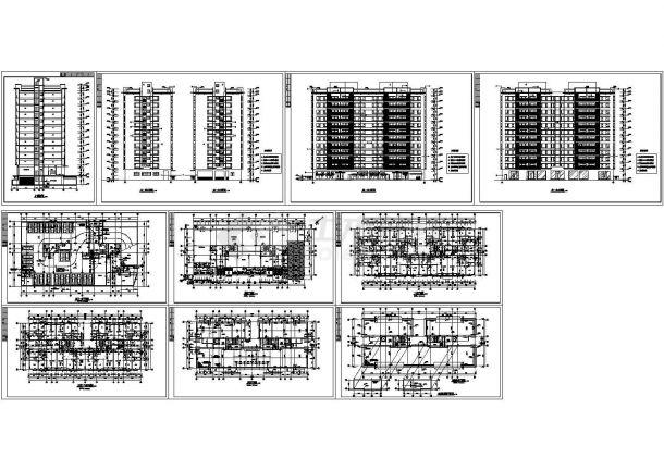 某地高层商住楼平立剖CAD设计方案图纸-图一