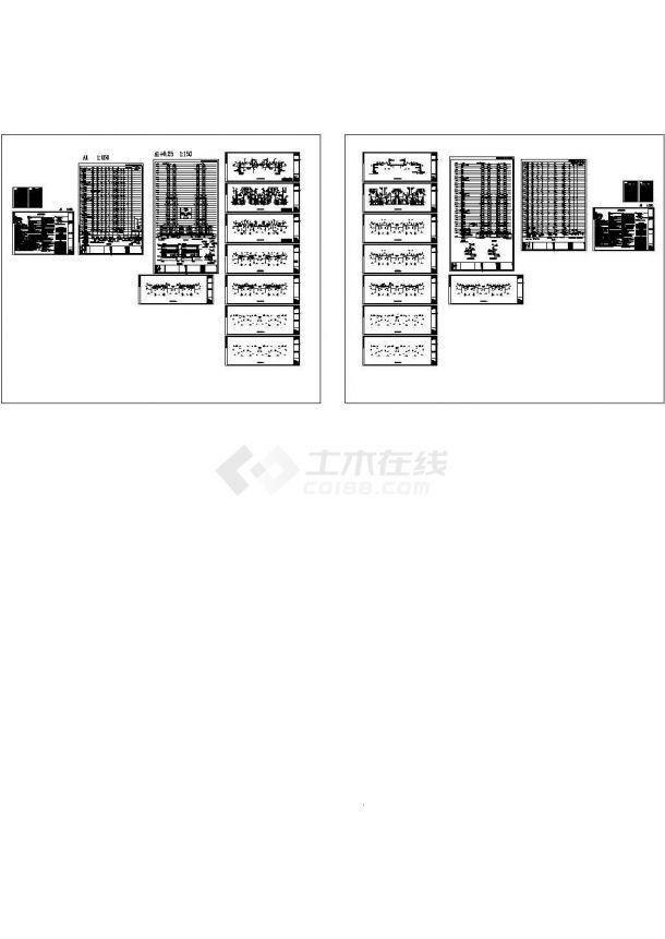 地标建筑商业综合体住宅楼给排水施工图纸Cad设计图-图一