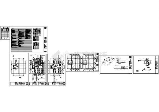 宿舍楼及食堂建筑给排水施工图Cad设计图-图二