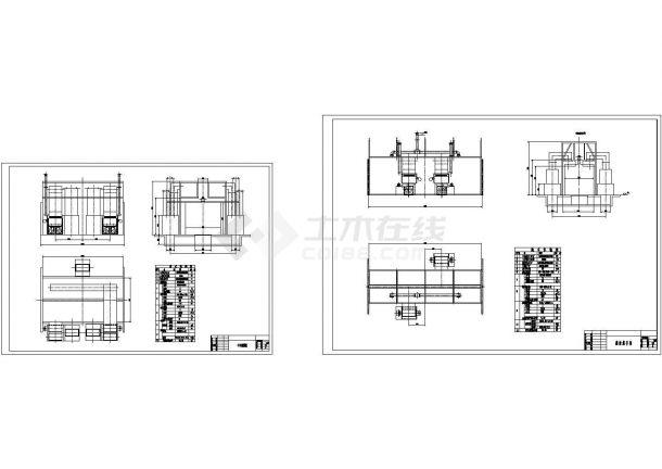 重型机械设备涂装整车喷烘室cad设计图-图一