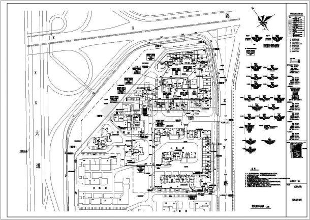 某小区智能化弱电系统CAD设计总平面图-图一