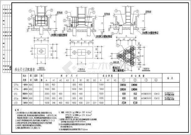 [惠州]预应力混凝土管桩承台节点构造详图-图一
