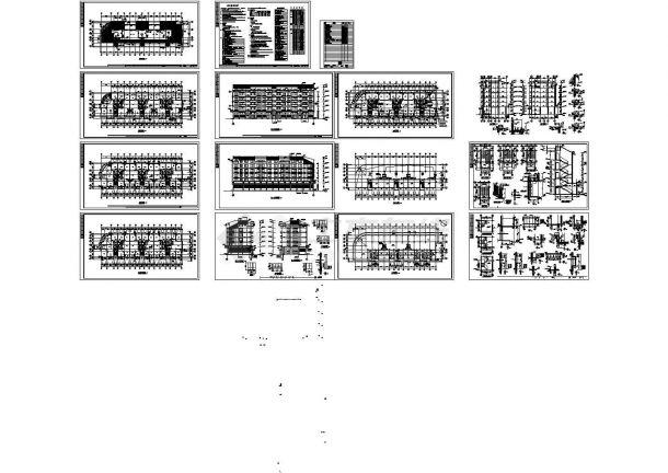 某五层带跃层框架结构住宅楼(4620㎡)设计cad全套建筑施工图(含设计说明)-图一