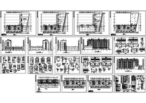 某现代高档小区多层框架结构住宅楼设计cad全套建筑施工图(含设计说明)-图二