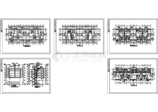 某多层混凝土框架结构住宅楼设计cad全套建筑施工图(标注详细)-图二