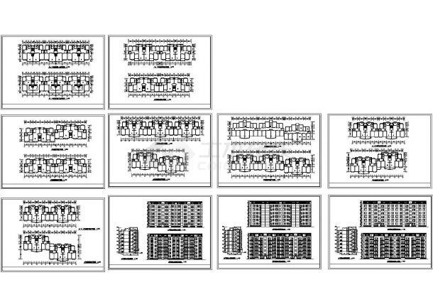 某现代高级小区多层框架结构住宅楼设计cad全套建施图纸(标注详细)-图一