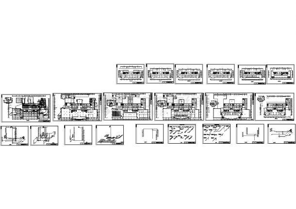 某市机关高层办公楼给排水施工图-图一