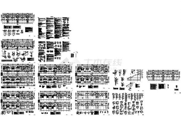 [武汉]五层框架结构住宅楼结构设计施工图-图一