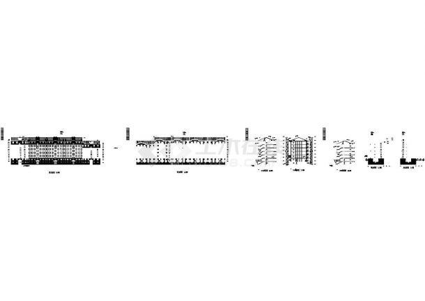 北方某度假小区五层住宅楼建筑施工设计图-图一