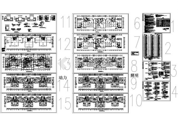 某住宅小区1#楼电气非常标准设计cad图纸-图一