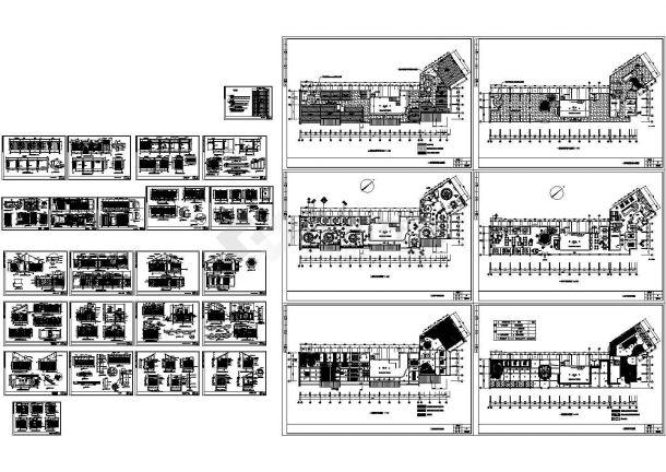扬州广陵区某2层经典中餐厅建筑设计CAD施工图-图一