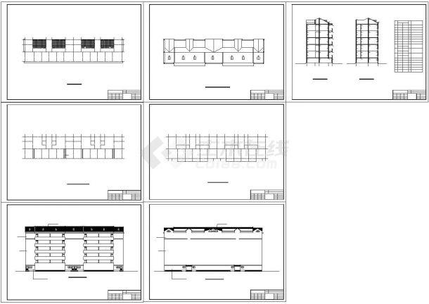 某多层砌体结构住宅楼建筑设计cad全套施工图(甲级院设计)-图一